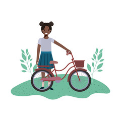girl with bicycle avatar character