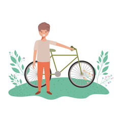 boy with bicycle avatar character