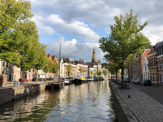 Canal around the old town of Groningen