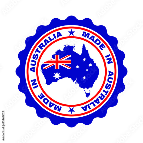 Map Of Australia Logo.Stamp With Text Made In Australia Seal With Map Of Australia In
