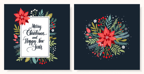 Christmas greeting card collection with seasonal design and hand lettering