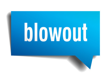 blowout blue 3d speech bubble