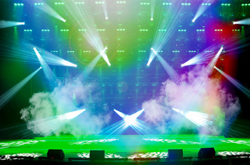 Empty show stage