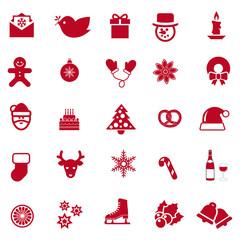 Iconos de Navidad en rojo