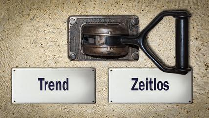 Schild 354 - Zeitlos