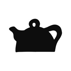 kettle silhouette vector icon. isolated object