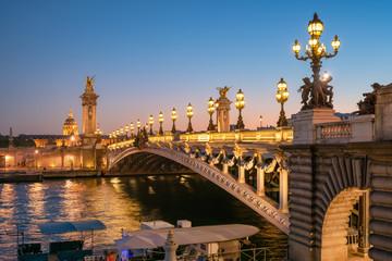 Foto op Plexiglas Centraal Europa Pont Alexandre III in Paris, Frankreich