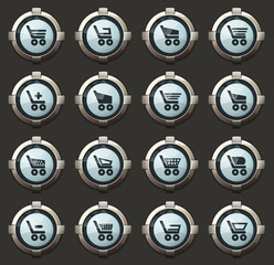 Basket icons set