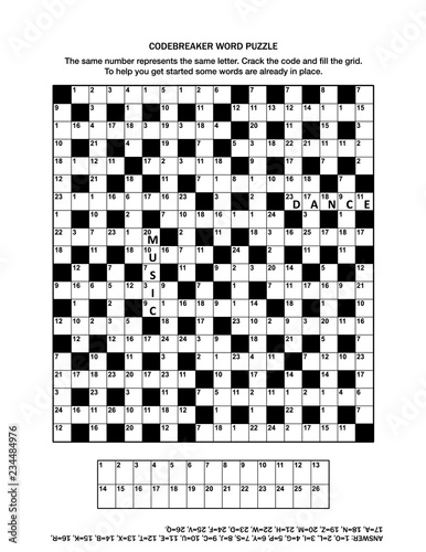 photograph relating to Printable Code Cracker Puzzles called Puzzle website page with codebreaker (codeword, code cracker) term