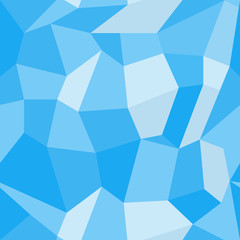 Abstract vector seamless geometric pattern in polygonal style. Background of blue polygons. EPS10. Can be used as print on cover or cloth.