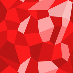 Geometric pattern in polygonal style. Abstract vector seamless background of red polygons. EPS10. Can be used as print on cover or cloth.