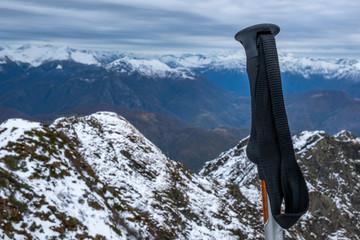 Le Alpi Svizzere dal monte Limidario o Gridone