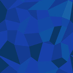 Abstract vector seamless geometric pattern in polygonal style. Background of dark blue polygons. EPS10. Can be used as print on cover or cloth.