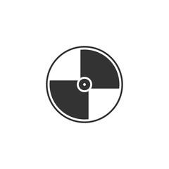 Disc. Black Icon Flat on white background
