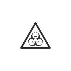 Virus. Black Icon Flat on white background