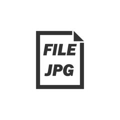 JPG File. Black Icon Flat on white background