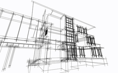 Abstract architectural sketch