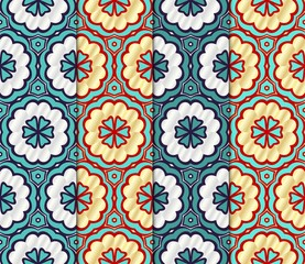 Foto op Canvas Marokkaanse Tegels Set of Geometric seamless pattern. Decorative art deco style. Vector illustration line texture for wallpaper, packaging, banners, textile fashion fabric print, invitation cards