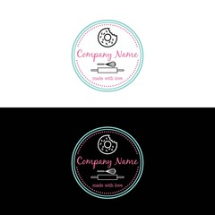 Bakery, Dessert Logo Template Vector Design
