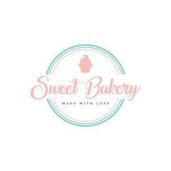 Sweet Bakery and Dessert Logo, Sign, Template, Emblem, Flat Vector Design