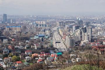 View over Almaty skyline, Kazakhstan