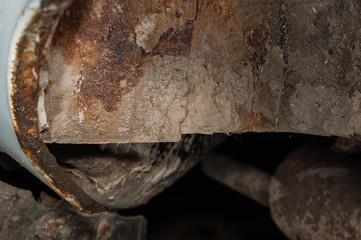 corrosion on the car, restoration