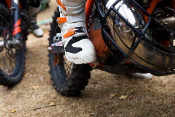 Motocross endurance wheel closeup