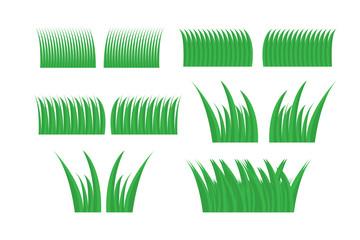 Green grass set for design. green grass