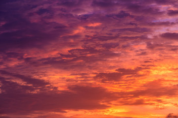 Colorful of clouds and sky at sunset, abstract background of natural