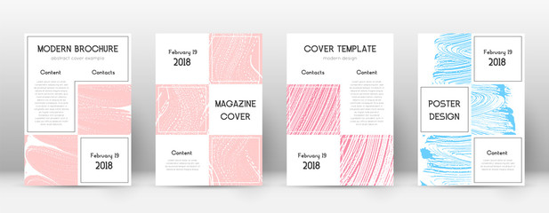 Cover page design template. Business brochure layo