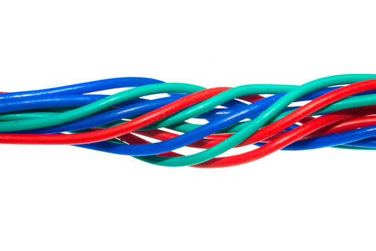 wire isolated on white background