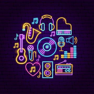 Music Sound Neon Concept