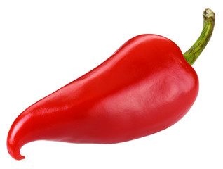 Canvas Prints Hot chili peppers SINGLE RED CHILLI CUT OUT