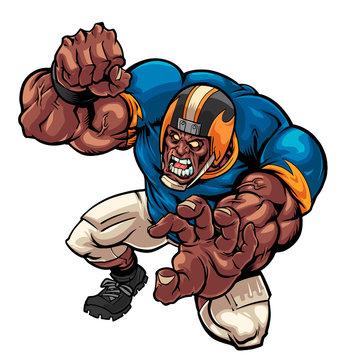 football player tackling