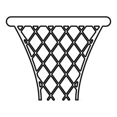 Basketball basket Streetball net basket icon black color illustration  outline
