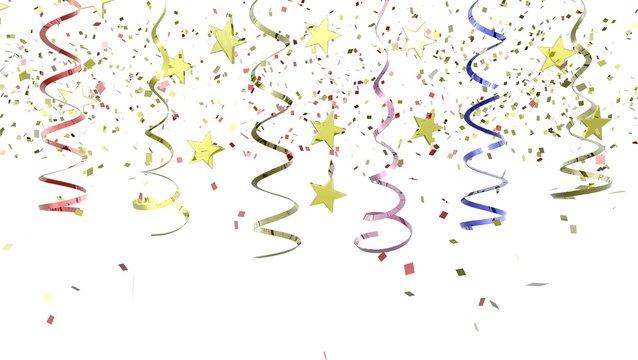 Colorful Confetti on Background