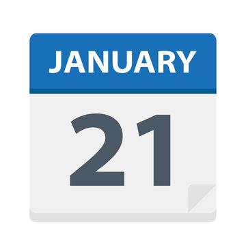 January 21 - Calendar Icon