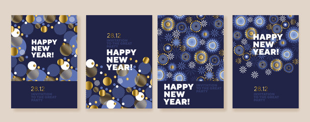 New Year and Christmas posters collection.