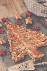 tarte soleil pesto en forme de sapin 4