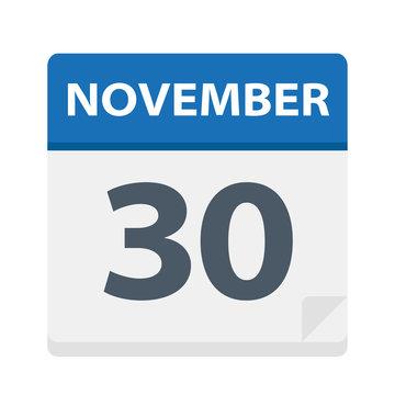 November 30 - Calendar Icon