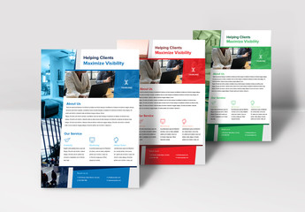 Flyer Layout with Photo Placeholders