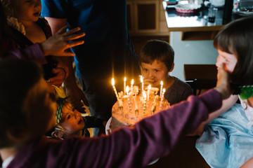 Children having fun at a birthday party