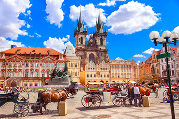 Deurstickers Praag Old Town Square in Prague