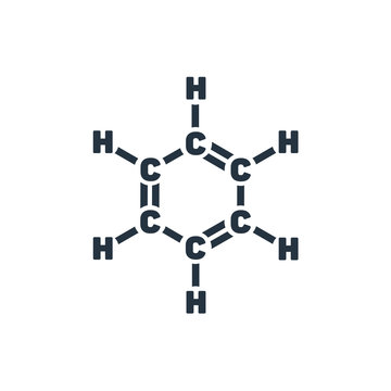 benzene isolated icon on white background, oil industry