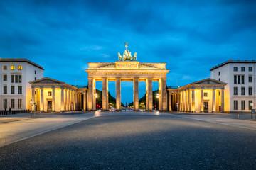 Brandenburger Tor bei Nacht, Berlin, Deutschland