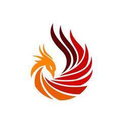 Luxury Phoenix Logo Concept Stock Vector