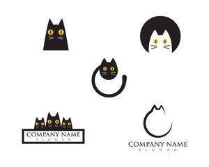 Cat Logo design vector