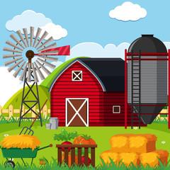 A Farm landscape scene