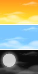 Set of sky scenes