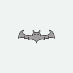 Halloween evil bat  colored icon. One of the Halloween collection icons for websites, web design, mobile app